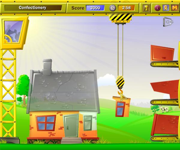 come costruire una casa online con la gru su ecogiochi